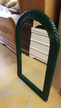 wall mirror with green wicker frame Davenport, 33896