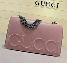 pink leather Gucci crossbody bag
