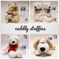 Assorted stuffies/Plush toys was $10 now $5 | EUC, SFPF home Ajax, L1T