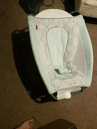 white and black Fisher-Price bouncer seat Las Vegas, 89104