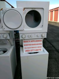 white stackable washer and dryer Suitland-Silver Hill, 20746