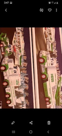 Toy HESS truck and tractor ,,,  and truck and jet