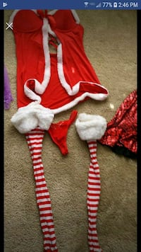 red and white stripe onesie Belleview, 34420