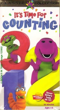 barney vhs collectible time for counting