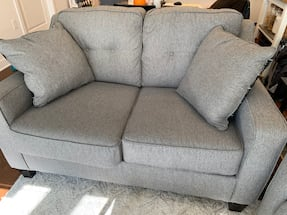 Gray Sofa & Loveseat