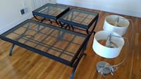 Coffee and End Table + Lamp Set Malden
