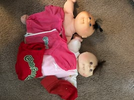 Cabbage Patch dolls with clothing