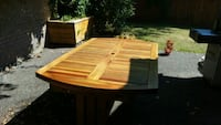 brown wooden picnic table set North Vancouver, V7N 2A9