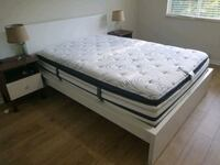 Ikea Malm queen bed with Beautyrest queen mattress Pembroke Pines, 33028