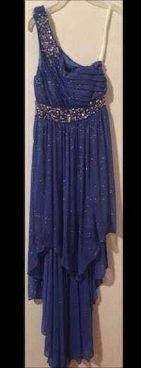 Women's blue and diamond studded one shoulder dress Portsmouth, 23702