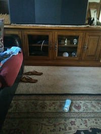 Paid over $1,000 for a solid oak TV stand with she