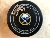 CASEY MITTELSTADT SIGNED BUFFALO SABRES OFFICIAL GAME PUCK 285 mi