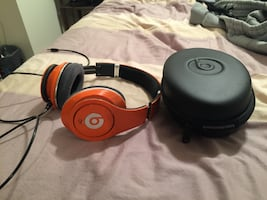 Beats Studio custom made orange headphone