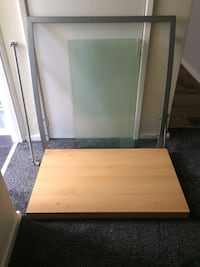 Pine an glass 3 tier tv stand for upto 50 '' tv Liverpool, L26 1UE