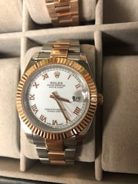 round silver Rolex analog watch with link bracelet Washington, 20024