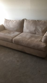 sofa and loveseat.  VERY comfortable, older so has some wear but no tears or stains 1163 mi