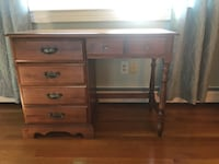 Solid maple desk with file drawer. Danvers, 01923