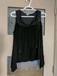 Black opened shoulder blouses with long sleeves Calgary, T2E 0B4