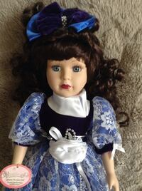 Girl in blue and white dress doll Puslinch, N1H 6H9