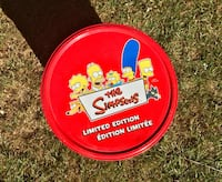 Limited edition The Simpson's round metal tin Kingsville, N9Y