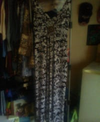 women's black and white floral dress Gulfport