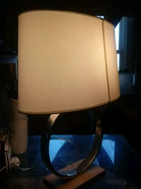 brown wooden base white shade table lamp Capitol Heights, 20743