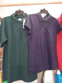 two blue and black polo shirts Patterson, 70392