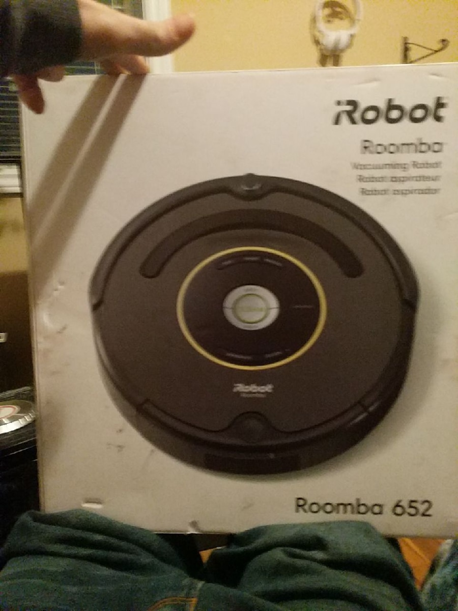 black and gray iRobot Roomba vacuum cleaner box for sale  Riverview