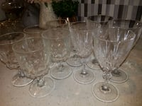 10 glasses for water and for ever thing + 2 plate for cholate  Mississauga, L5R 3K4