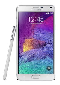 """PERFECT  samsung galaxy note 4  unlocked 32gb 5,7"""" inch charger white s-pen Montréal"""
