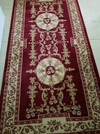 red, black, and white floral area rug Vancouver, V5M 3X7