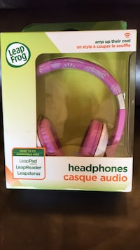 Leapfrog Headphones for kids pink as shown new in box  Fort Saskatchewan, T8L 1S9