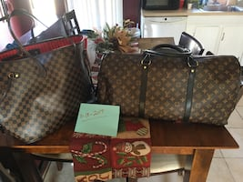 Louis Vuitton Neverful and Duffle Bag