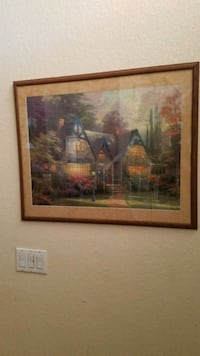 Large 31x26 Thomas Kinkade puzzle picture