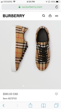 Burberry shoes brown-and-black 100% cotton 100 synthetic rubber Mississauga, L5K 1B6