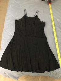 Black blk rose detail Fredericks ofHollywood tank dress size small (6) Rockville, 20850