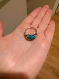 Turquoise silver ring size 8 Alexandria, 22309