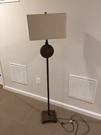 Set of 3 Bronze floor lamps with Beige shades Upper Marlboro, 20772