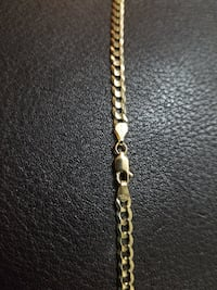 Brand New 10k Yellow Gold Curb Chain (4mm) Burnaby