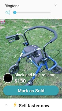 blue and black rollator walker screenshot Winnipeg, R2L 0Z9