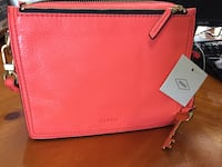 red leather Kate Spade tote bag