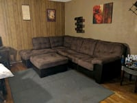 gray fabric sectional sofa with ottoman Rome, 30165