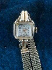 square silver analog watch with link bracelet Holtville, 92250