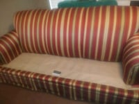 red and white striped fabric sofa Austin, 78728