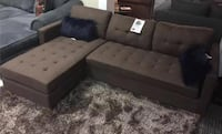 Brand new brown linen sectional sofa with reversible chaise  Silver Spring, 20902