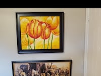 two black wooden framed painting of flowers Montréal, H4L 3C2