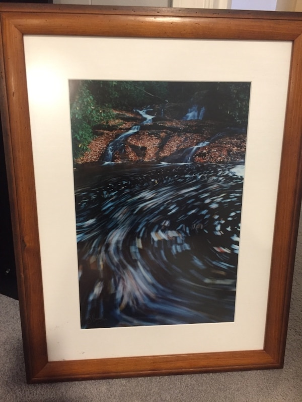 Large framed picture. 0286d9ef-4fd6-41c7-87cb-b83932aa000c