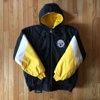 Vintage pittsburg puffy zip up jacket, size xl