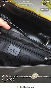 **GUCCI**clutch cross body like NEW!with bamboo detailing London, N5V 4P7