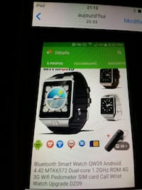 bluetooth smartwatch QW09 Laval, H7M 3V5